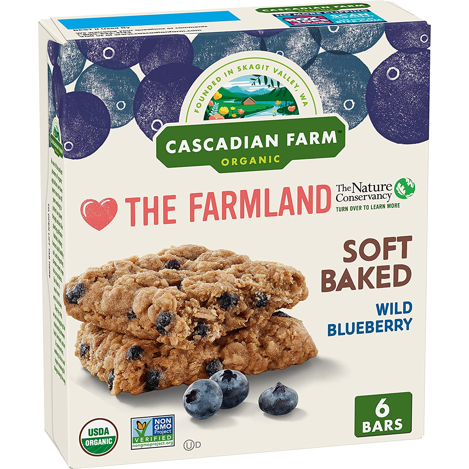 Cascadian Farm Organic Blueberry Soft Squares All items in the store Snack Bar Baked trust