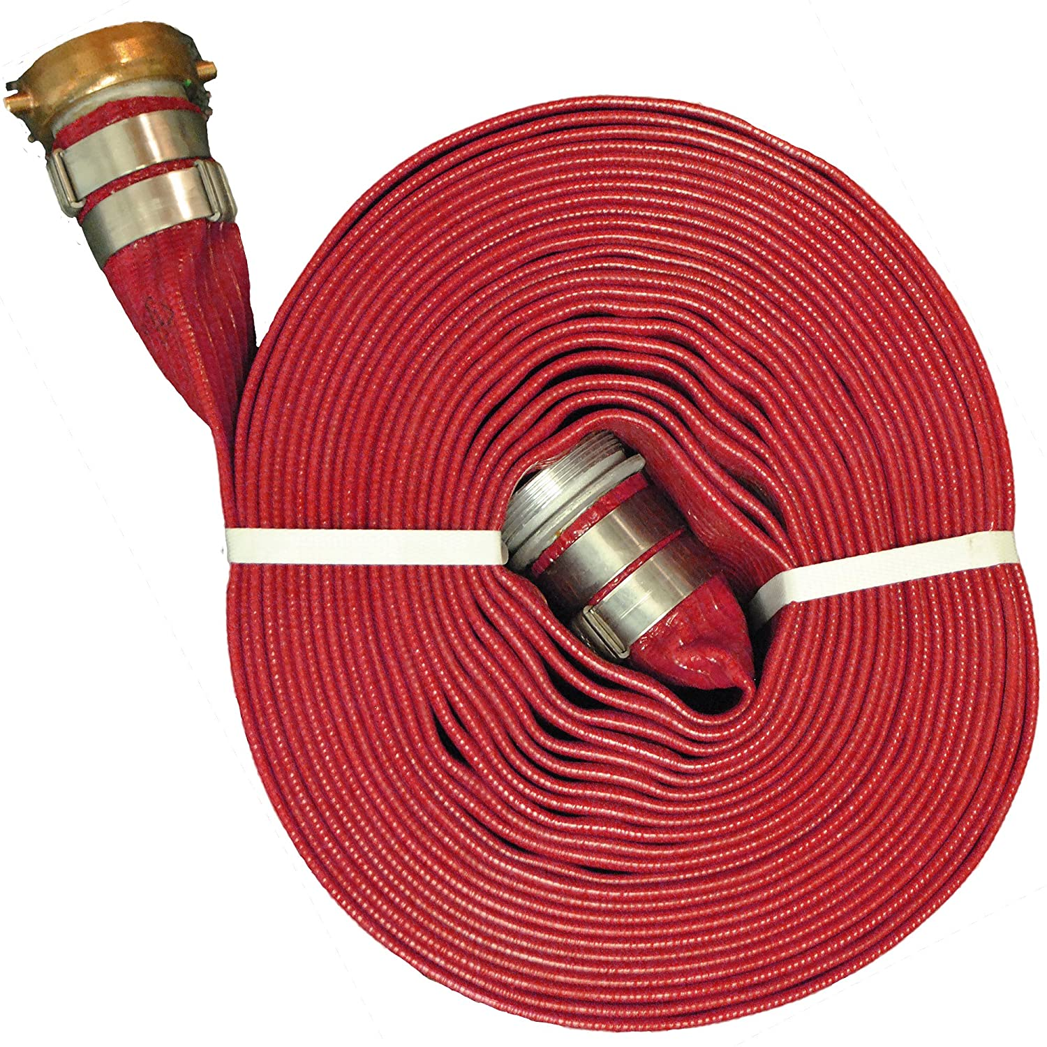 """JGB Enterprises A008-0321-1650NU Eagle Red PVC Discharge Hose, 2"""" x 50', Campbell Water Shank Couplings, 150 psi Working Pressure, -14 Degree F to 170 Degree F: Industrial & Scientific"""