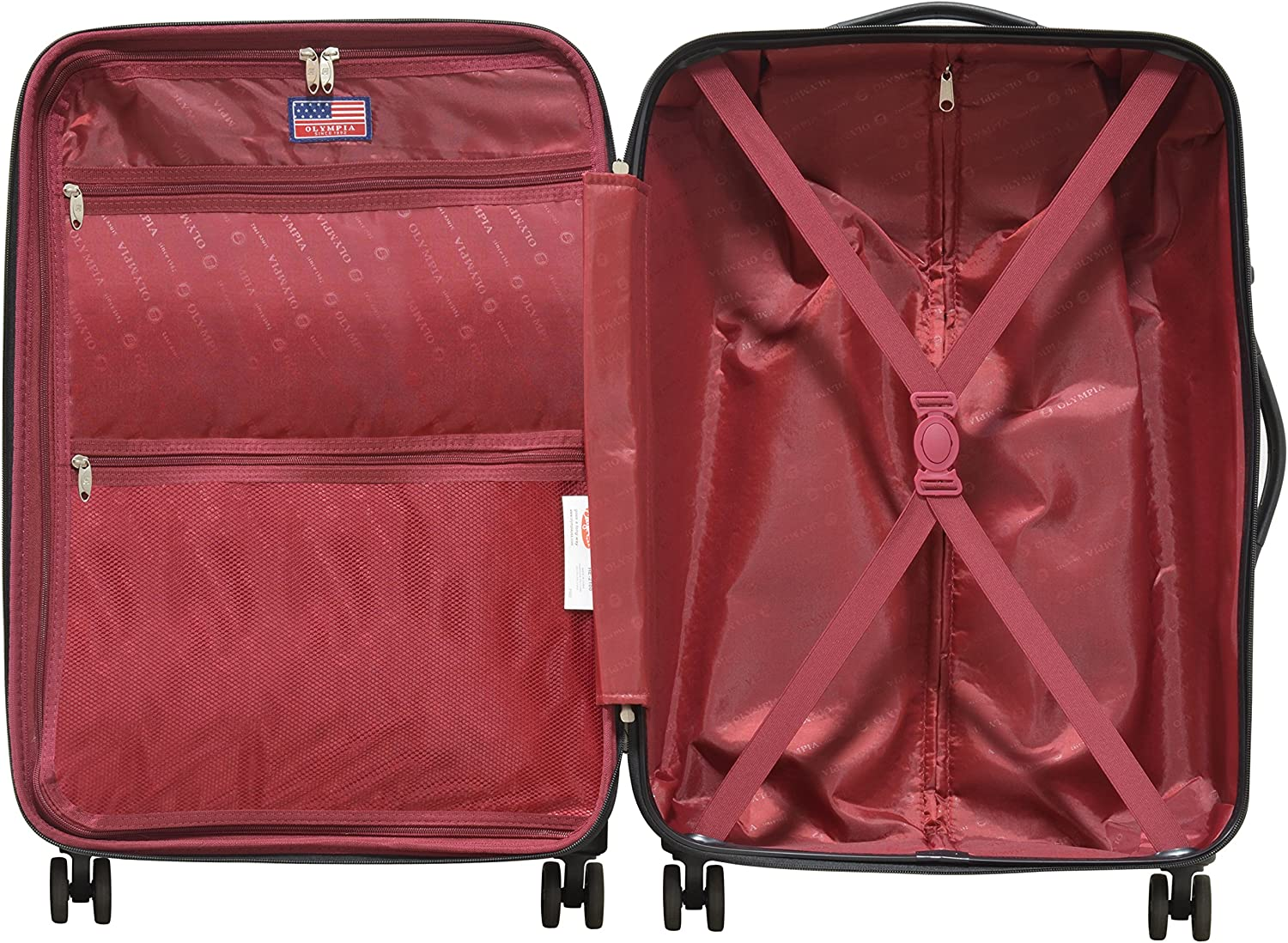 Gray Olympia Aerolite Ii 3 Piece Expandable Hardcase Spinner One Size