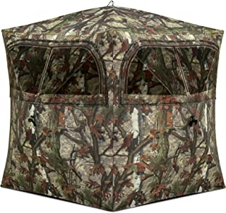 Barronett Grounder Ground Hunting Blind, 2 Person Pop Up Portable, Woodland Camo