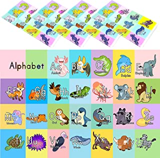 Youngever 80 Disposable Placemats Table Topper, Extra Sticky 4 Sides, Adhesive Peel and Stick Strip Disposable Mats for Kids Toddlers Baby Children, 18 Inch x 12 Inch Kids Safe, FDA Approved, Alphabet