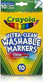 10ct Ultra-Clean Fineline Markers ,washable, detail drawing, pens, colouring, fun, gifts, education, project, booklist, classroom, school, non toxic