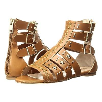 Just Cavalli Leather Star and Stud Sandal (Caramel) Women