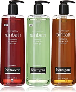 Neutrogena Rainbath Multi-pack of 3, 1 Original Formula, 1 Pomegranate and 1 Pear & Green Tea, 16 fl oz bottles