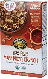Nature's Path Flax Plus Maple Pecan Crunch Cereal, Healthy, Organic, 11.5 Ounce Box (Pack of 6)