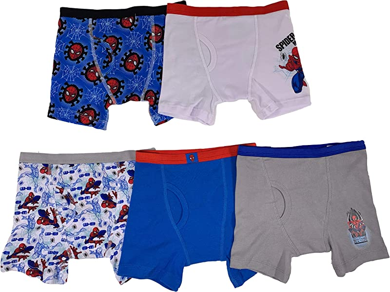 Marvel Boys Spiderman 5 Pack Boxer Brief