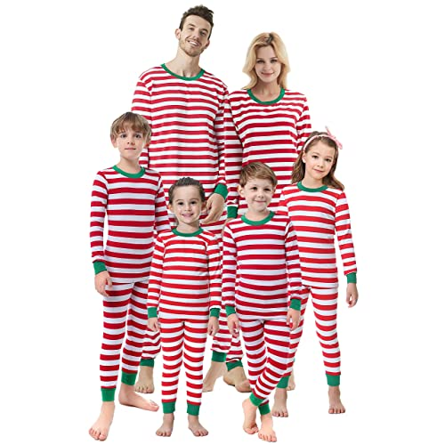 Matching Family Christmas Boys Girls Pajamas Striped Kids Sleepwear  Children Clothes 77612761a