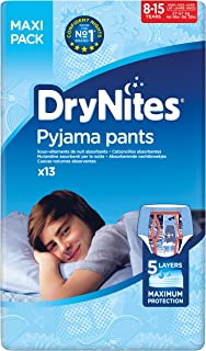 DRYNITES Pyjama Pants, Age 8-15 Y, BOY, 27-57 kg, 52 Bed Wetting Pants