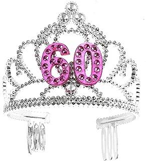 Forum Novelties Happy Birthday 60th Silver Pink Tiara