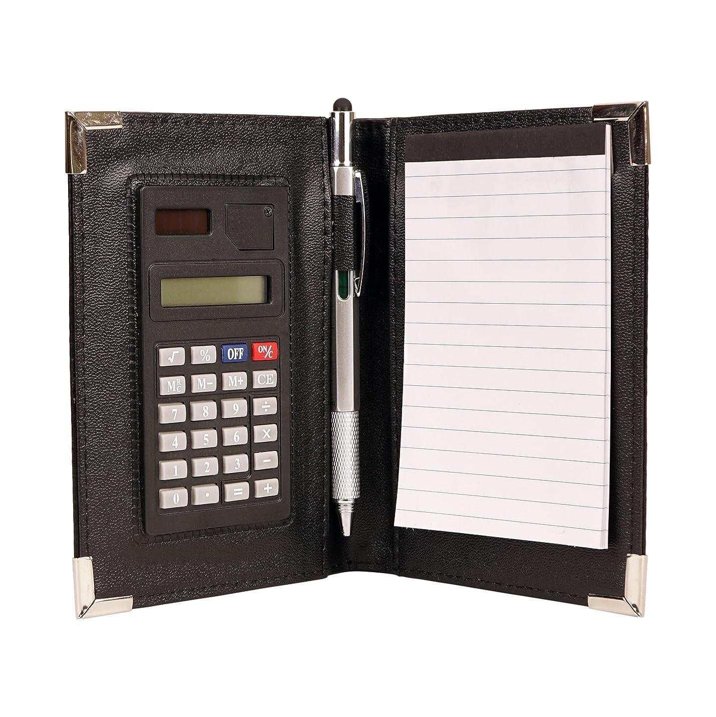 癒す純度シャトルnufazes Mini Jotterメモ帳の計算機とペンホルダー ブラック