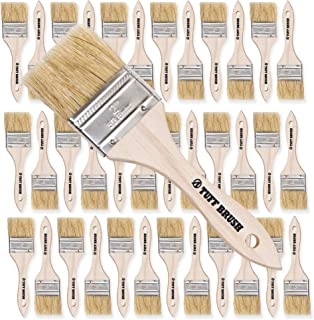 TUFF BRUSH - 50 Pack of 2 inch Chip Brushes for Paint, Stains, Varnishes, Glues, Resins, and Gesso
