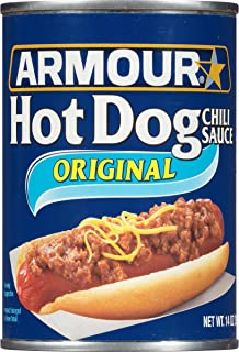 Armour Hot Dog Chili Sauce, Keto Friendly Ingredient, 14 Ounce (Pack of 12)