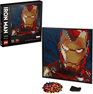 LEGO Art Marvel Studios Iron Man 31199 Building Kit for Adults; A Creative Wall Art Set Featuring Iron Man That Makes an A...