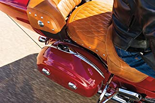 Kuryakyn 5670 Motorrad Accent Zubehör: Satteltasche Trim Top für 2014 19 indische Motorräder, Chrom