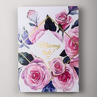 Konst NUVO WEDDING inbjudningskort – 20 st, 120 x 170 mm, med tryckta inre och kuvert för bröllop – guldfolie design på du...