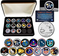 APOLLO SPACE MISSIONS FL Quarters 13-Coin Complete Set NASA PROGRAM with Box