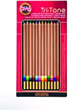 Koh-I-Noor Juego de lápices de colores tritonos, 12 colores surtidos en lata y blíster (FA33TIN12BC)