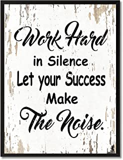 SpotColorArt Work Hard in Silence Let Your Success Make Noise Framed Canvas Art, 7