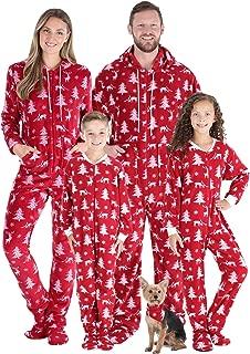 Matching Family Christmas Pajama Sets, Deer Footed Onesies