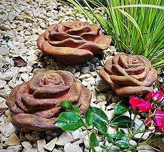 Rosenherz Steinguss Blumen Gartendeko Handmade Rosen Herz Geschenkidee Wanddeko