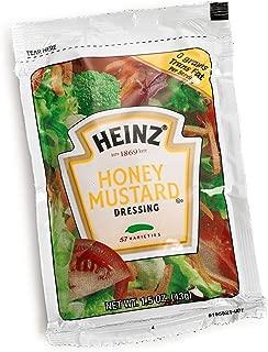Heinz Honey Mustard Salad Dressing (1.5 oz Packets, Pack of 60)