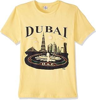 Dubshi D153 Men's Dubai T-shirt, Yellow