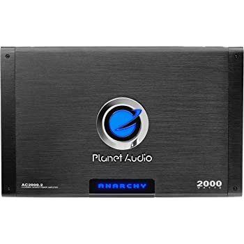 Planet Audio AC2000.2 2 Channel Car Amplifier - 2000 Watts, Full Range, Class A-B, 2-4 Ohm Stable, Mosfet Power Supply, Bridgeable