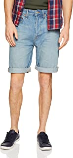 Calvin Klein Men's Slim Straight Fit Denim Jean Shorts