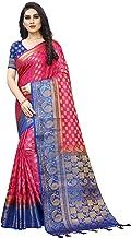SAARAH Women Kanjivaram Art Silk Saree (N4574PB, Pink)