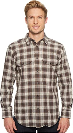 c428430ca4ee1 Filson. Twin Lakes Sport Short Sleeve Shirt.  78.00. Dark Brown Ivory Cobalt