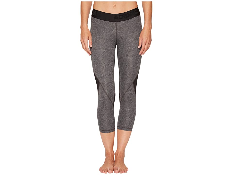 adidas Alphaskin Sport 3/4 Tights (Dark Grey Heather) Women