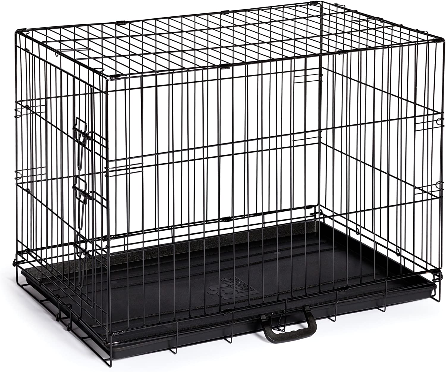 Home OnTheGo Single Door Dog Crate, Medium, Black