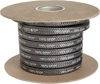 Palmetto 1389 Series 100% GFO Expanded PTFE with Graphite Compression Packing Seal, Dull Black, 1/4