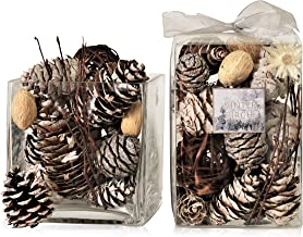 Manu Home Holiday Winter Birch Potpourri | 10oz Box | A Light Clean Scent of Cedar, Red Amber and a Birch Wood with Beauti...