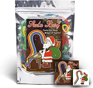 Santa Barf - Rainbow Lace Licorice - Funny Unique Christmas Stocking Stuffer Gag Gift for Teens, Girls, Boys and Kids