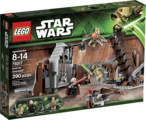 Garantía 100% de ajuste Lego Year 2013 Star Wars Wars Wars Series Battle Scene Set  75017 - DUEL ON GEONOSIS with Lair Featuring Falling Lamps, Tower Handle and Hidden Compartment Plus Speeder and Count Dooku, Yoda, Poggle the Lesser and Dooku's Pilot Droid Minifigures (Total Pieces  by L  centro comercial de moda