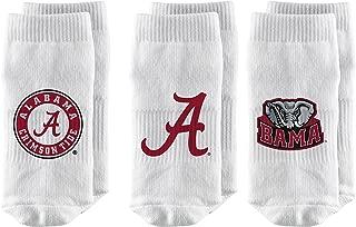 Strideline NCAA Baby Socks, White, 3-Pack