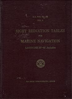 Sight Reduction Tables for Marine Navigation - Latitudes 30 - 45 Inclusive (H.O. Pub 229 Vol. 3)