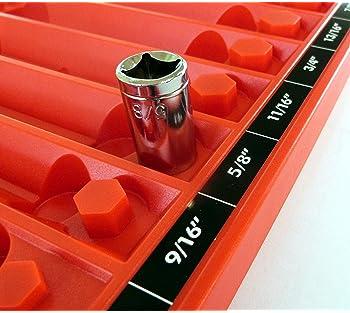 Tool Sorter Socket Organizer - Red