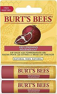 Burts Bees Pomegranate Moisturizing Lip Balm Twin Pack for Unisex - 2 x 0.15 oz