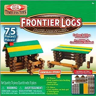 Ideal Frontier Logs 75 Piece Classic Wood Construction Set
