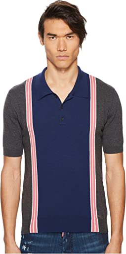 Striped Sweater Polo