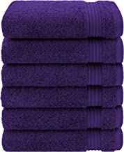 Luxury & Hotel Quality Turkish Cotton 6-Piece Hand Towel Set, Extra Soft & Absorbent for Face & Hands by United Home Texti...