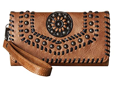 M&F Western Vanessa Clutch (Brown) Clutch Handbags