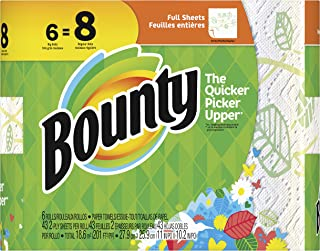Bounty Paper Towels, Print, 6 Big Rolls