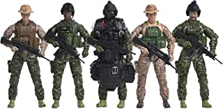 Navy Seals Action Figures – 5 Pack Military Toy Soldiers Playset with 14 Points of Articulation | Realistic Accessories – Elite Force