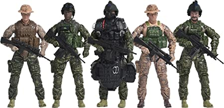 Elite Force Navy Seals Action Figure 5-Pack Plus Bonus Halo Jumper with 14-Points of Articulation with Realistic, True to Scale Military Accessories