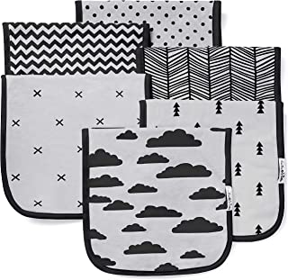"""BaeBae Goods Burp Cloths for Baby Boy & Girl - Ultra Absorbent Burping Rags - Anti Shrink Unisex Burpy Clothes - Super Soft Jersey Cotton, Large 21""""x10"""" - Thick for Newborn Cloth Diapers - 6 Pack"""