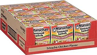 Maruchan Instant Lunch Sriracha Chicken, 2.25 oz (Pack of 12)