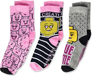 LEGO, Paquete de 3 calcetines para Niñas